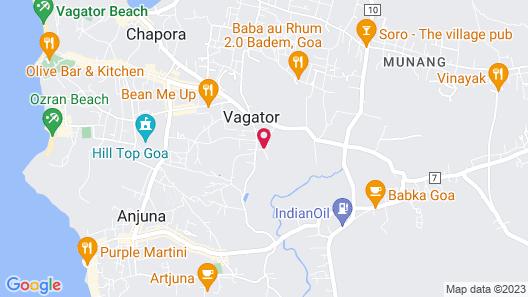 Rootsvilla Hostel Goa Map
