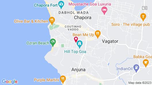 Piggy Hostel Vagator Map
