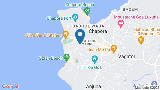 Folklore Hostel Goa Map