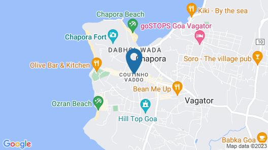 Mulberry Suites Vagator Beach Road Map