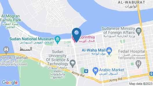 Corinthia Hotel Khartoum Map