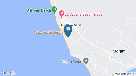Morjim Queen Beach Resort Map