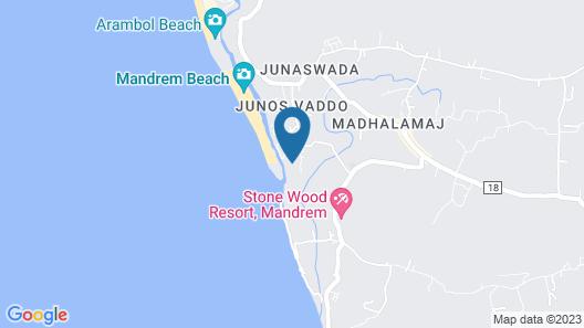 REGENTA PLACE MANDREM BEACH-RESORT Map