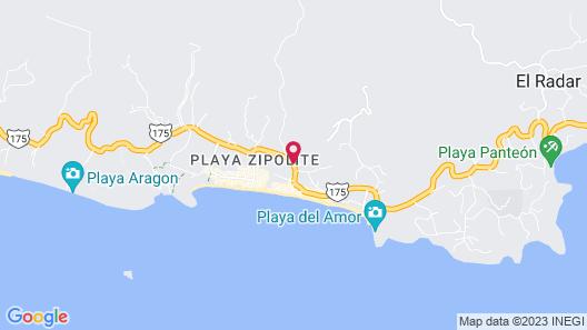 Cabanas Biuzaa Map