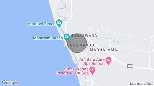 Sea View Studio Apartments Mandrem Beach North Goa With Private Balcony Map
