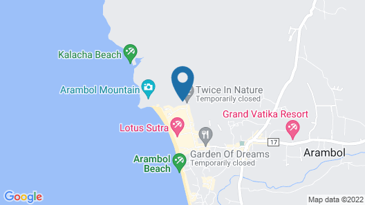 Roadhouse Hostel Arambol Goa Map