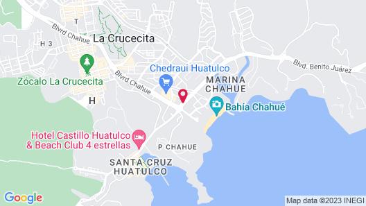 Hotel Villa Blanca Huatulco Map