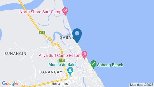 Playa Azul Baler Map