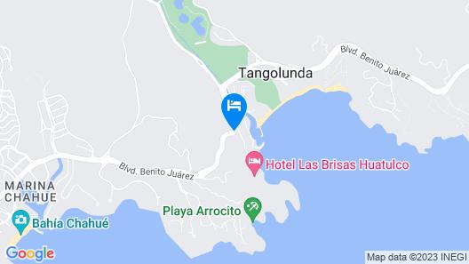 La Isla Huatulco Map