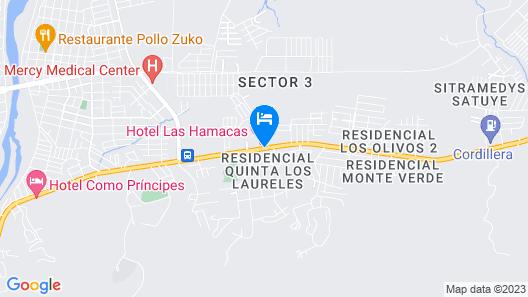 Hotel Las Hamacas Map