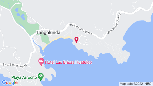 Villa Roxana Huatulco Map