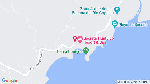 Secrets Huatulco Resort & Spa - Adults Only - All Inclusive Map