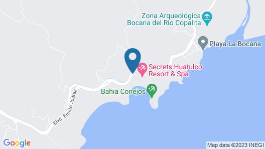 Secrets Huatulco Resort & Spa Map