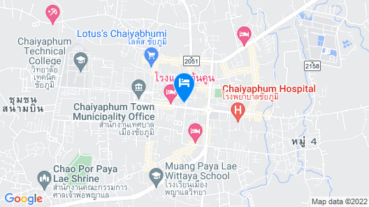 Sirichai Hotel - Chaiyaphum Map