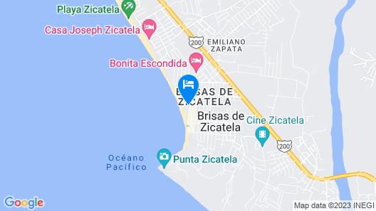 Punta Zicatela Hotel Map