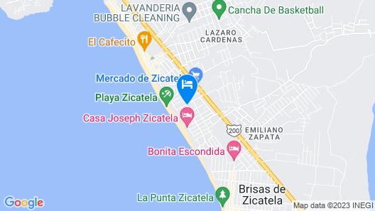 Hotel Palapas Tortuga Map