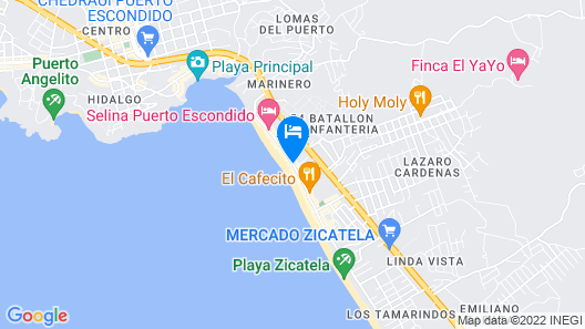 Bungalows Zicatela Map
