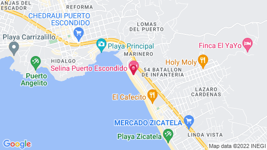 Selina Puerto Escondido Map