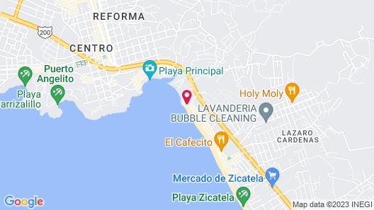 Bungalows Santa Cruz Map