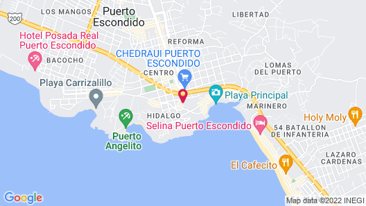 Hotel Paraiso Escondido Map
