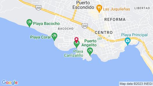 Villa Mozart y Macondo Map