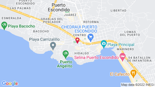 Madre Tierra Apartments Map