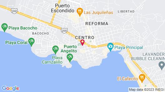 Hotel Careyes Puerto Escondido Map