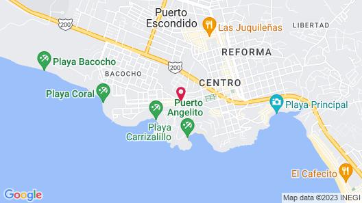 Posada Real Puerto Escondido Map