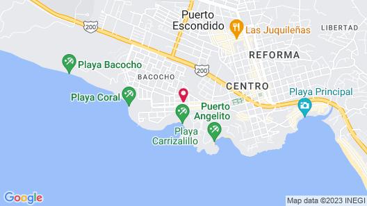 Hotel Casa Mantarrayas Map