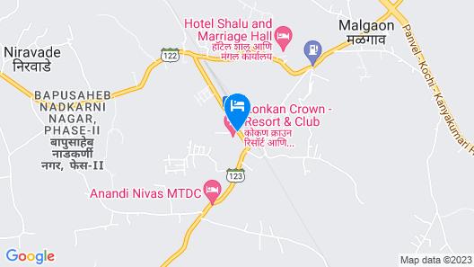 Konkan Crown Resort & Club Sawantwadi Map