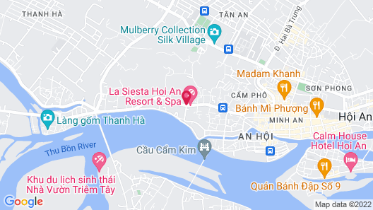 La Siesta Hoi An Resort & Spa Map