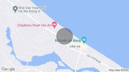 TROPICAL GARDEN BUNGALOW, An Bang Beach Map