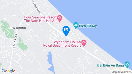 Le Belhamy Beach Resort & Spa, Hoi An Map
