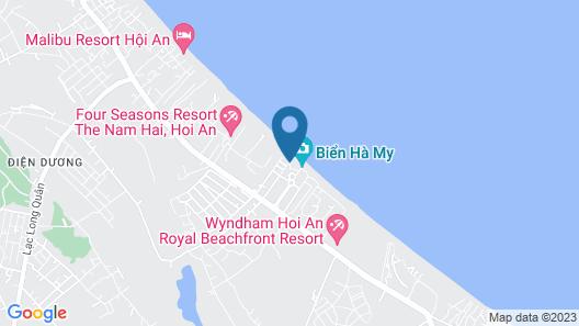 Ha My Beachside Villa Hoian Map