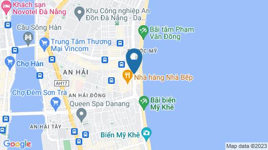 Mandila Beach Hotel DaNang Map
