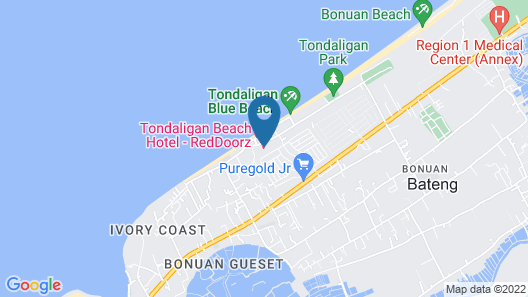 Tondaligan Beach Hotel Map