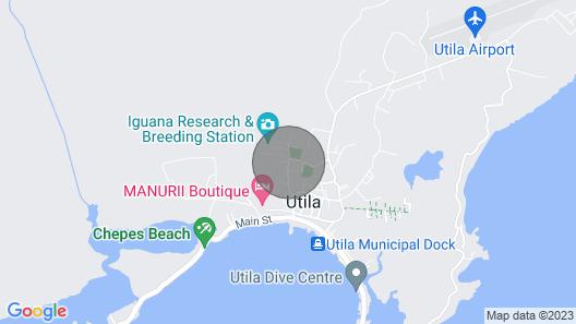Utila's The Gardens ~ Upscale Apartments Map