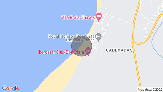 House on the beach #23b, Praia de Chaves, Boa Vista, Cape Verde Map