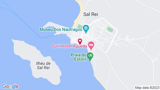 Studio Praia Diante ocean view Map