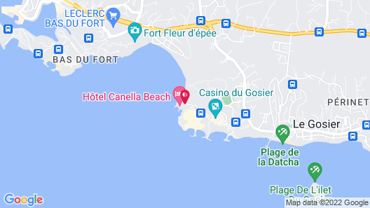 Canella Beach Hotel Map