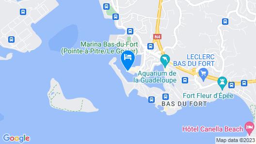 Appartement 3 Chambres Marina du Gosier - vue mer Map