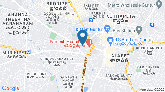 The Taj Regency Guntur Map