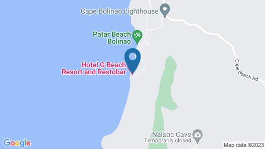 Hotel G Beach Resort and Restobar Map