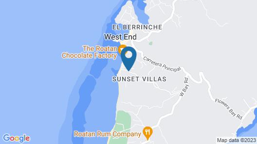 West End Dive Resort Map