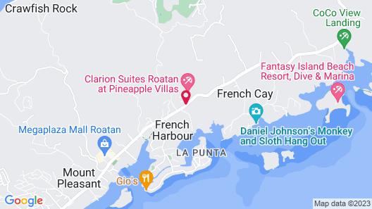 Clarion Suites Roatan at Pineapple Villas Map