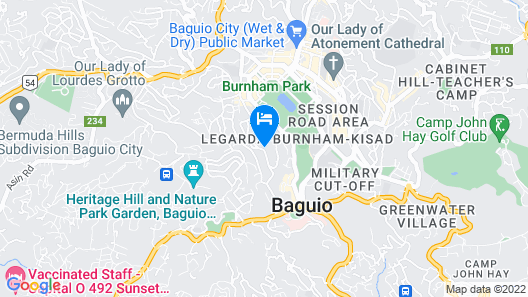 The Orchard Hotel Baguio Map