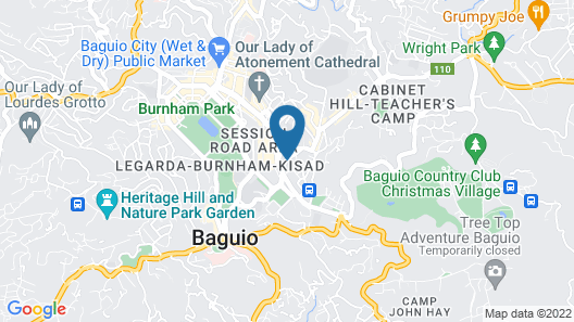 Baguio LeFern Hotel Map