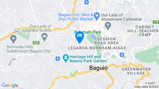 V Hotel and Apartel Map