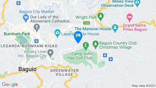 ZEN Rooms Basic Pine Cone Baguio Map