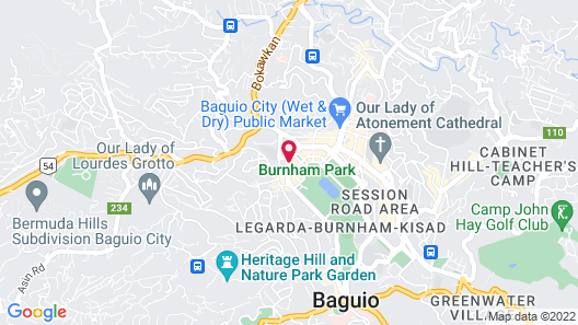 Eurotel Baguio Map